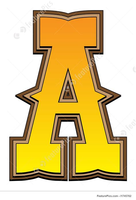 a the letter letters and numbers western alphabet letter a stock