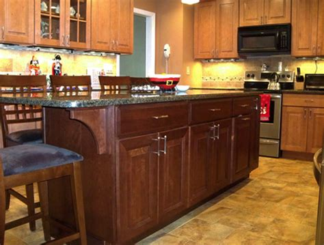 two tone maple kitchen cabinets two tone kitchen design maple cherry cabinets