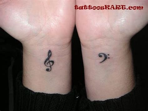 couples music tattoos 43 stunning wrist couples tattoos