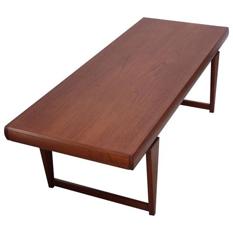 Extendable Coffee Table Modern Teak Extendable Coffee Table For Sale At 1stdibs