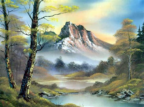 bob ross painting free let s keep it woodsy