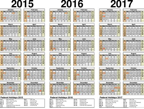 2017 Yearly Calendar With Holidays 2016 Yearly Calendars With Holidays Activity Shelter