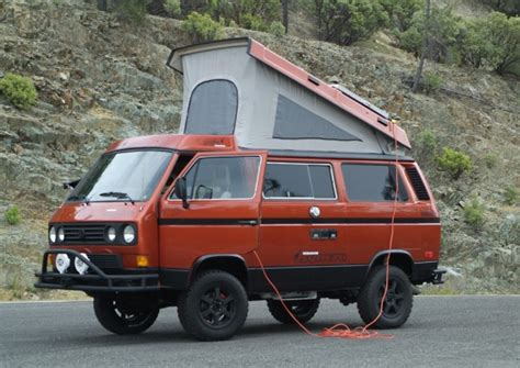 volkswagen vanagon lifted this 1986 vanagon syncro giraffe is a beauty vanagon