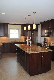 Cranberry Kitchen Cabinets Kitchen Remodel With Maple Cabinets In Cranberry And St Ceclia Granite