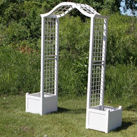 Arbor With Planters by Arbor Trellis With Planter Free Shipping Today