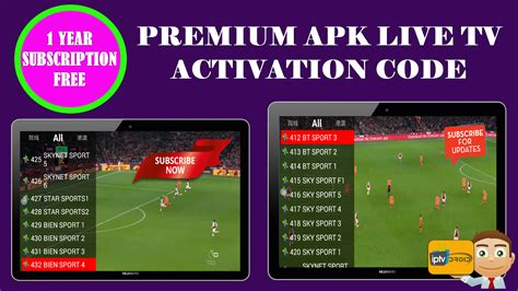 live apk universal tv premium apk hd live tv with activation code 1 year for all iptv droid
