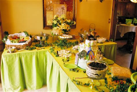 food buffet ideas shower menus