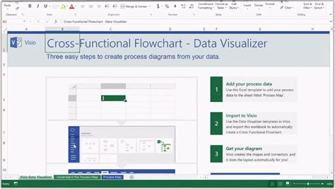 Automatically Create Process Diagrams In Visio Using Excel Data Visio Data Visualizer Template