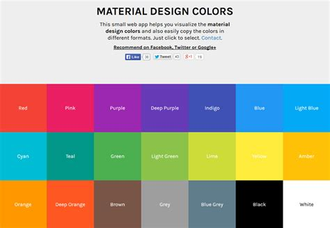 material design color schemes material design colors herramienta para el color