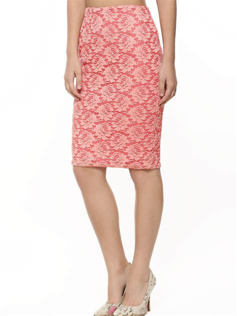 buy oliv lace overlay pencil skirt for s