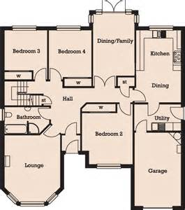 four bedroom bungalow floor plan raith developments lochty meadows