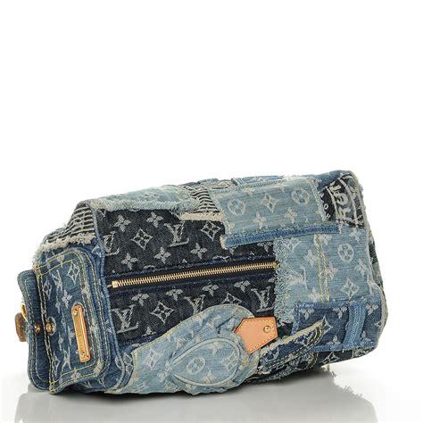 Louis Vuitton Patchwork - louis vuitton denim patchwork speedy 30 blue 191850