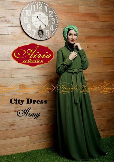 Baju Dress 7g647255 Dress Army city dress by airia army baju muslim gamis modern