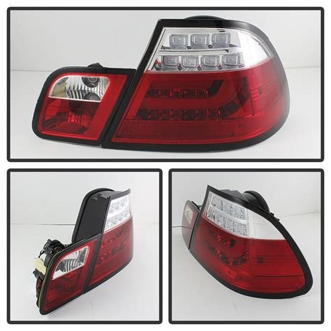 2006 bmw 330i tail lights spyder red clear lightbar style led tail lights for 2004