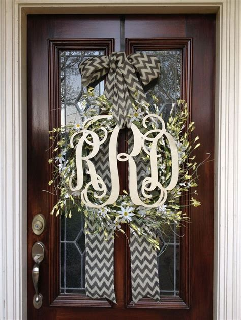 Monogram Wreath For Door by 25 Unique Initial Door Wreaths Ideas On
