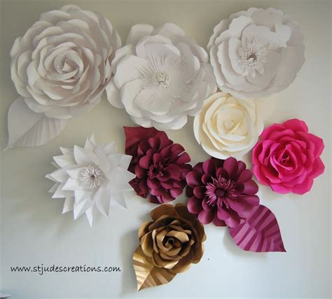 How To Make Paper Wall Flowers - paper wall flowers see http www stjudescreations