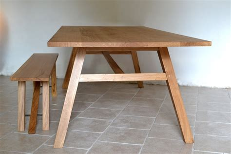 hooper oak dining table bespoke table with angled legs