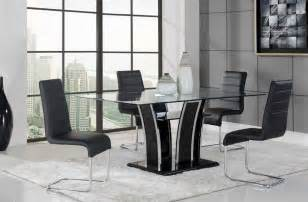 Modern Glass Dining Room Sets by High Class Rectangular Glass Top Dining Room Design San