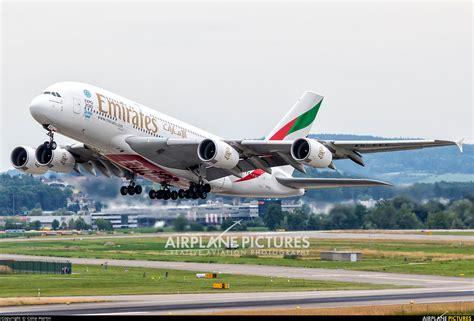 emirates zurich a6 eec emirates airlines airbus a380 at zurich photo