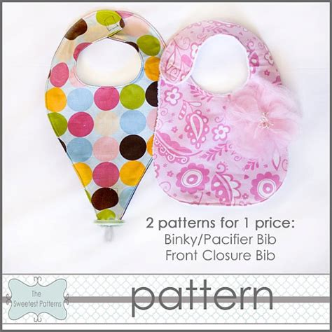 free pattern pacifier bib 5 best images of printable bib pattern pacifier free