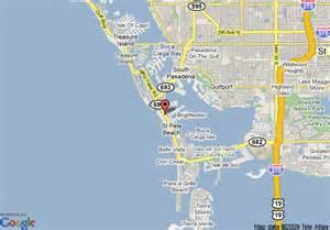 johnson florida map map of howard johnson resort hotel st petersburg