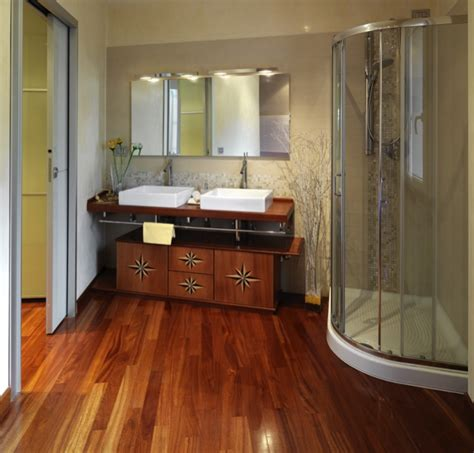 Laminate Flooring Bathroom Bathroom Hardwood And Laminate Flooring