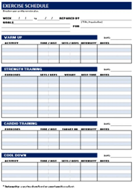 nasm opt template nasm workout template blank