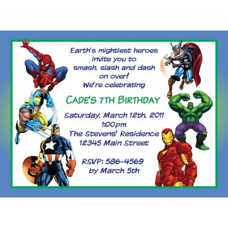 marvel woh card template marvel heroes birthday invitation ironman