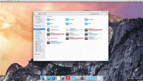theme windows 10 yosemite windows mit einem transformationspack in os x yosemite