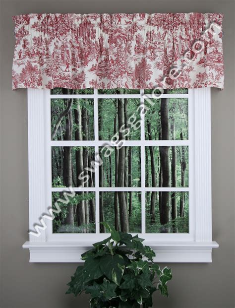toile kitchen curtains victoria park valance red toile valance ellis