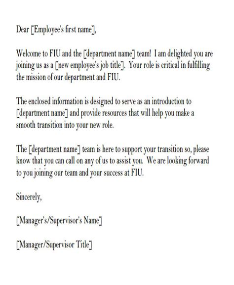 Introduction Letter As New Employee 35 introduction letter sles