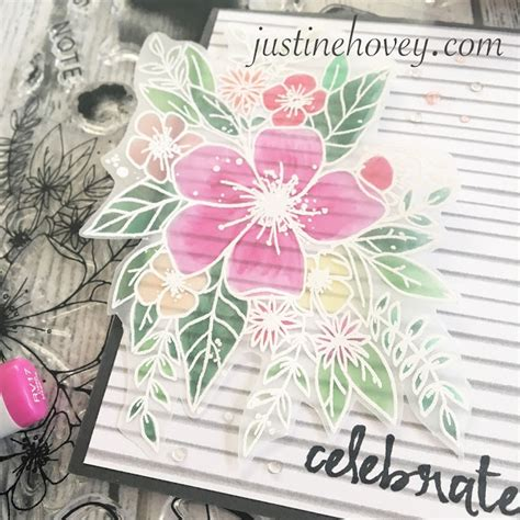 justine s cardmaking colouring on vellum with copic markers giveaway - Copic Marker Giveaway 2017