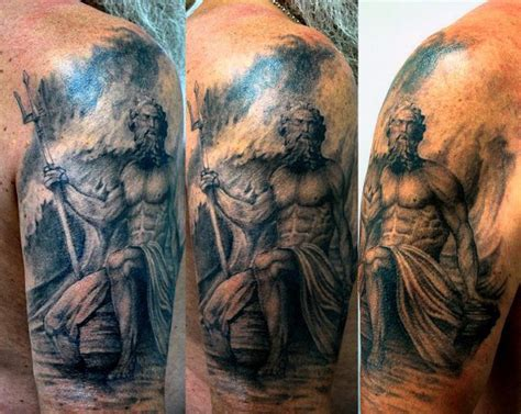 30 poseidon tattoo designs for men greek god of the sea