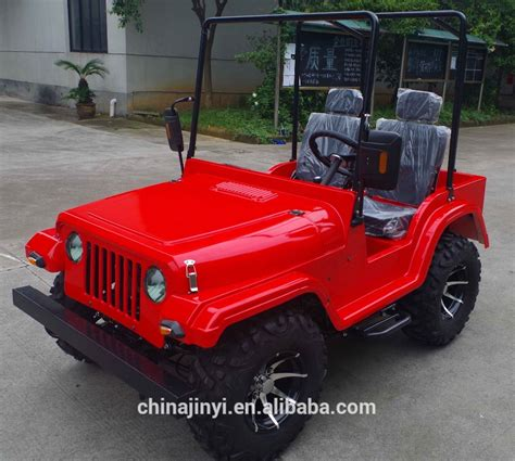 mini jeep atv factory ce approved red 200cc gas mini jeep willys atv for