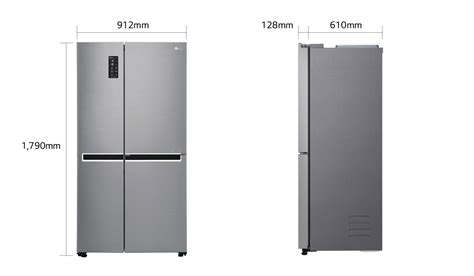 Gc B247sluv lg gc b247sluv 687 ltr side by side refrigerator lg india