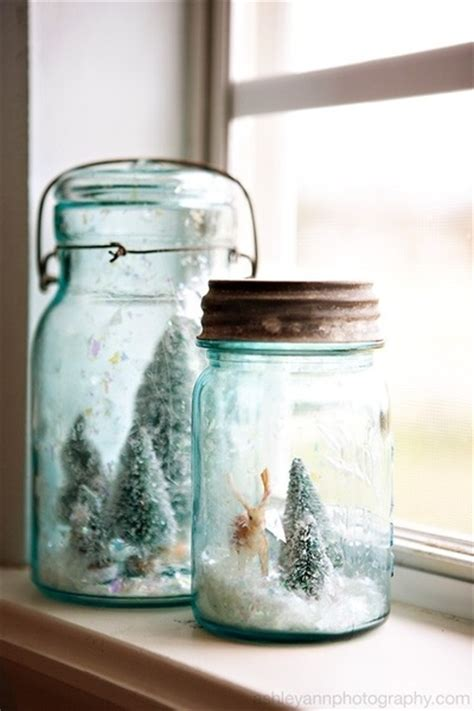 bell jar snow scenes christmas crafts pinterest