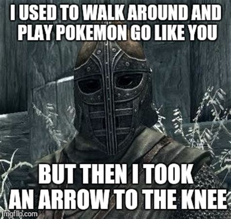 Arrow To The Knee Meme - twisted my ankle the other day imgflip