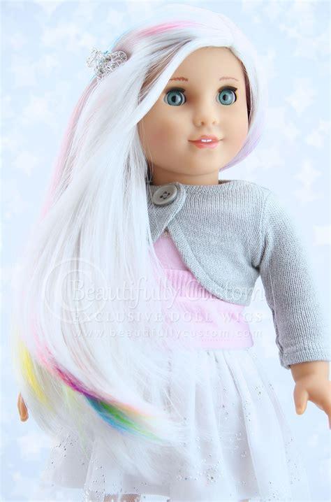 doll unicorn unicorn elegance doll wig for custom american dolls