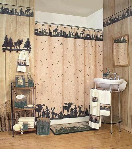 Lodge Bathroom Accessories Big Country Moose Shower Curtains Bath Rachael Edwards