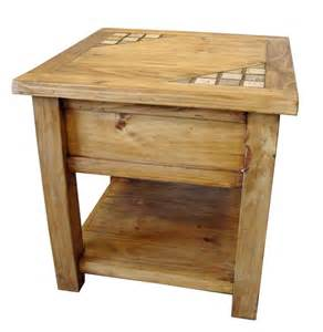 Rustic End Tables Marble And Solid Wood Rustic End Table Mexican Rustic Furniture And Home Decor Accessories