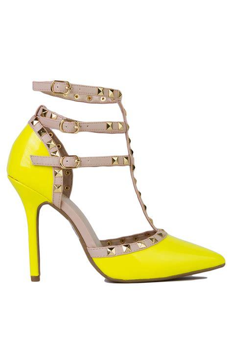 yellow high heels shoes lemon yellow high heel court shoes is heel
