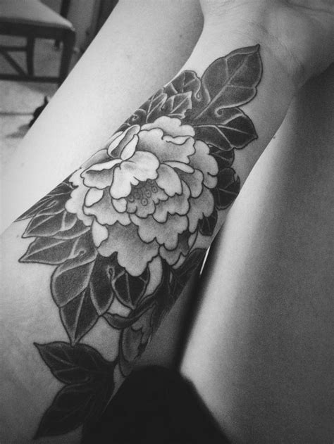 peony tattoo black and grey peony flower tattoo black and grey life style by