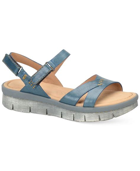 sandals only born piper flat sandals only at macy s in blue lyst
