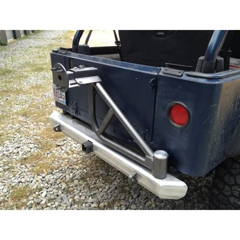 Jeep Tj Rear Tire Carrier Bumper Cover Fabworks Llc Aluminum Rear Bumper With Tire
