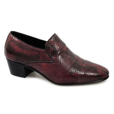 mens boots with 2 inch heels eduardo mens snakeskin leather cuban heel evening shoes