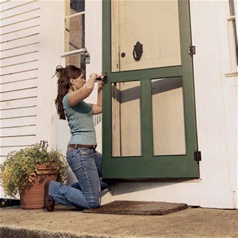 Installing Screen Door by Install The Screens And Hardware How To Build A Screen