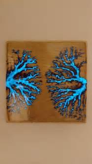 fractal burning  glow   dark resin album