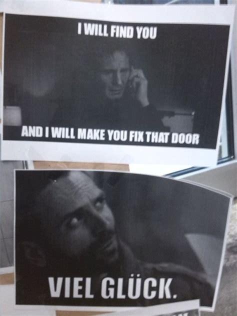 Door Meme - when this door broke down in germany the meme police