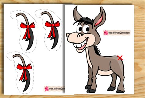 printable version of pin the tail on the donkey pin the tail on the donkey game printable www pixshark