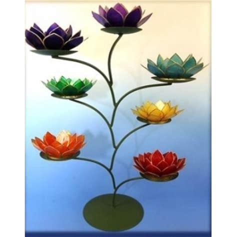 lotus flower chakra lotus flower 7 chakra tree tealight candle holder